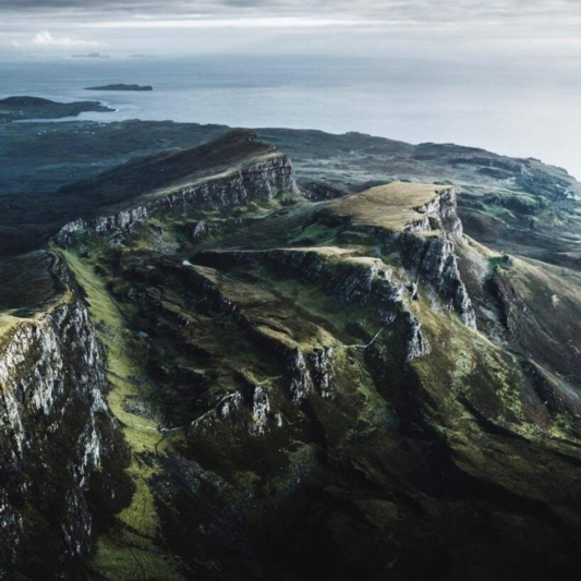 The Quiraing/ Trotternish Landslip from above