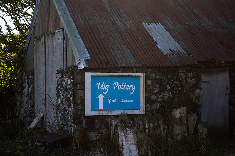 Uig Pottery, Hamish Morrison, The Ferry Inn Skye